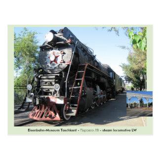 паровозЛВ - steam LW locomotive Dampflokomotive - Postal