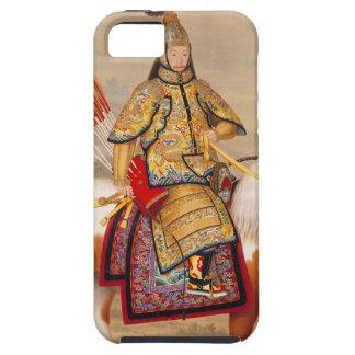 乾隆帝 del emperador de Qianlong de China en armadura Funda Para iPhone SE/5/5s