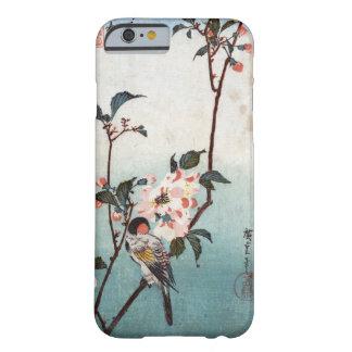 八重桜に鳥, flor de cerezo y pájaro, Hiroshige, Ukiyoe Funda Barely There iPhone 6