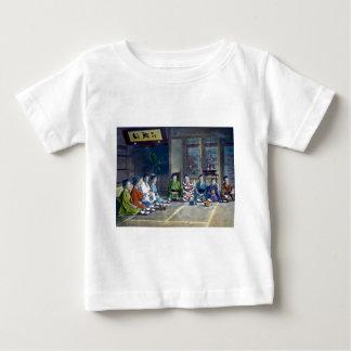 家族 teñido mano japonesa tradicional de la comida camiseta