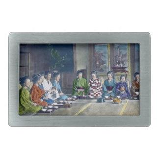 家族 teñido mano japonesa tradicional de la comida d hebillas cinturon rectangulares