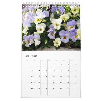 植物カレンダー2017 CALENDARIOS DE PARED