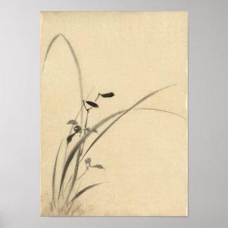 葛飾北斎 de Hokusai de las hierbas Impresiones