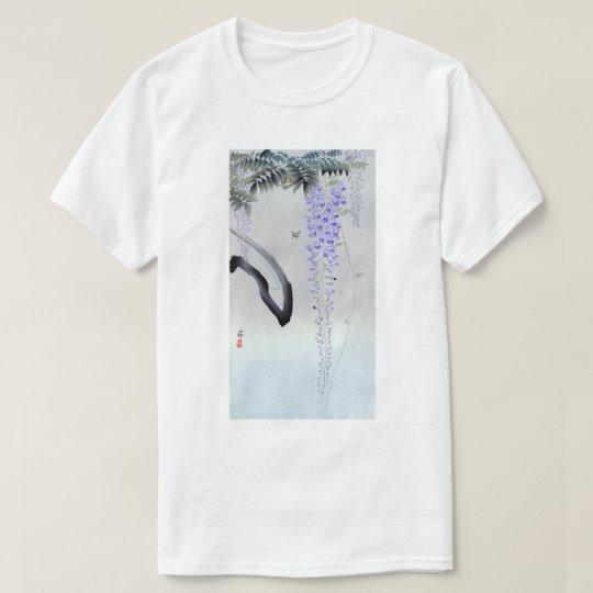藤の花, glicinia floreciente del 古邨, Ohara Koson, Camiseta