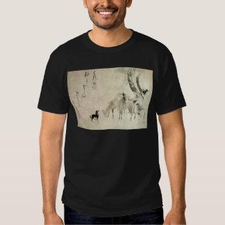 馬の家族, familia del caballo, Hokusai, Sumi-e del 北斎 Camisetas