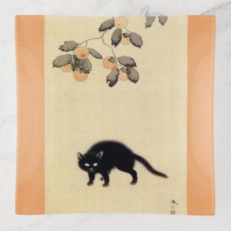 黒猫, gato negro del 春草 (detalle), Shunsō, arte
