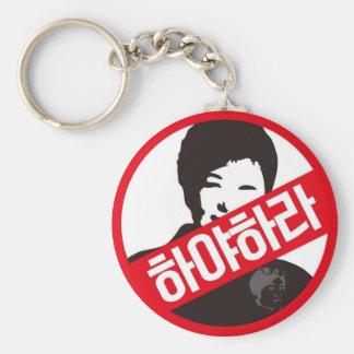 ¡박근혜 HACIA FUERA - Park Geun-hye HACIA FUERA! Llavero Redondo Tipo Chapa