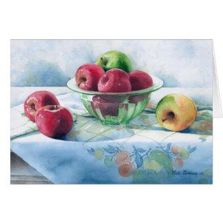 0002 manzanas en tarjeta verde del día de madre de