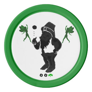 00Shamrock - Fichas de póker de la arcilla del