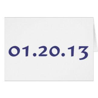 01.20.13 - El día pasado de Obama como presidente Tarjeta De Felicitación