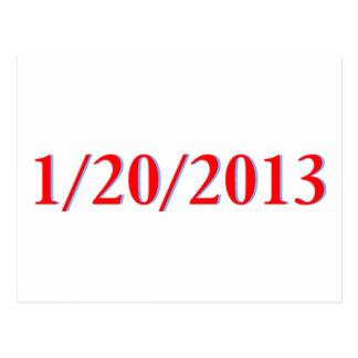 01/20/2013 - El día pasado de Obama como Postal