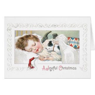 034 juguetes del muchacho del niño el dormir de la tarjeta de felicitación