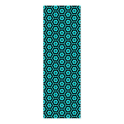 (03) - negro geométrico 280514 en ciánico tarjeta de visita
