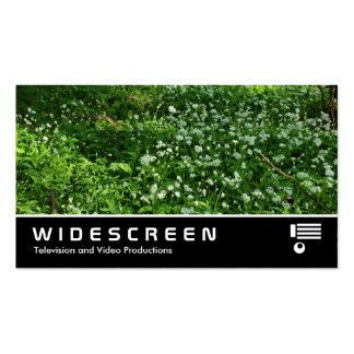 0438 con pantalla grande - Flores del arbolado Tarjetas De Negocios