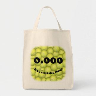 ¡0,000, el comienzo perfecto, es una cosa del bolso de tela