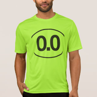0,0 No camisa del smiley del corredor