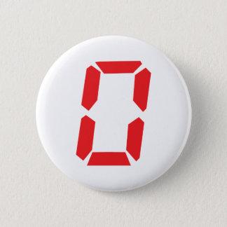 0 despertadores rojos número cero digital chapa redonda de 5 cm