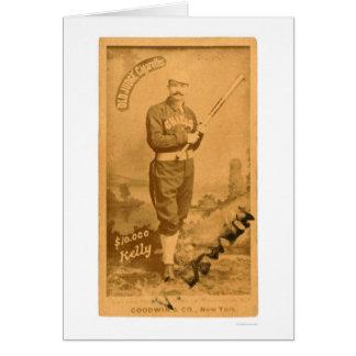 $10000 rey Kelly Baseball 1887 Tarjeta De Felicitación