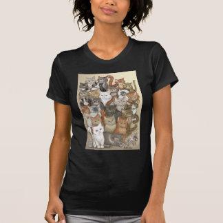 1000 gatos camiseta