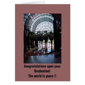 ¡100_2109, enhorabuena sobre su graduación! … tarjeta de felicitación