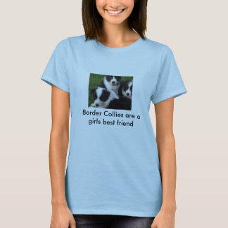 100_5125, borderes collies son un mejor amigo de camiseta
