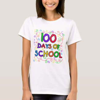 Camiseta 100 días de camisetas y de regalos del confeti de