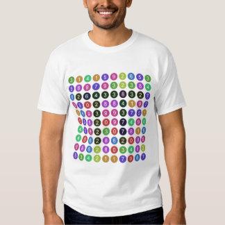 100 dígitos de pi camiseta