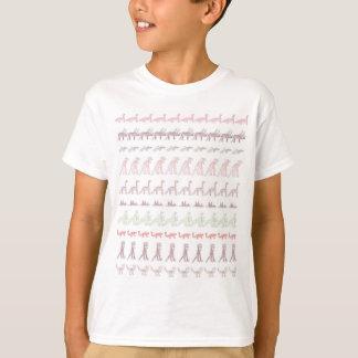 100 dinosaurios dibujados mano camiseta