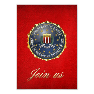 [100] Edición especial del FBI Invitación 12,7 X 17,8 Cm