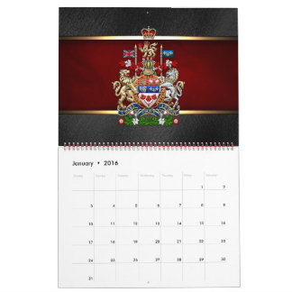 [100] Escudo de armas de Canadá [3D] Calendarios De Pared