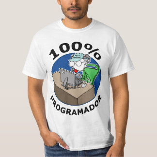 100% programador camiseta