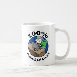 100% Programador Taza Clásica