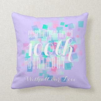 100a almohada de color de malva del personalizado