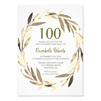 100a invitación de la fiesta de cumpleaños de la
