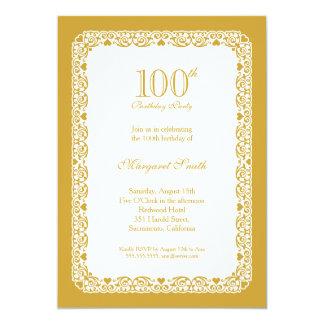 100a invitación de oro elegante de la fiesta de
