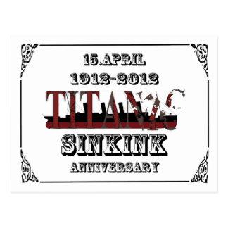 100o aniversario de la postal titánica de la