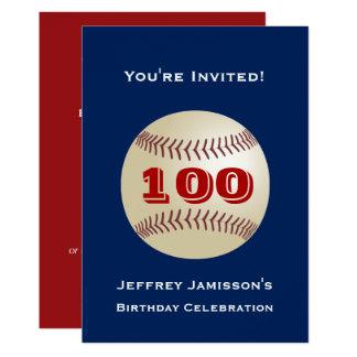 100o Béisbol de la invitación de la fiesta de