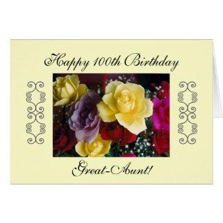 100o cumpleaños de la Grande-Tía Tarjeta