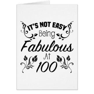 100o cumpleaños fabuloso tarjeta