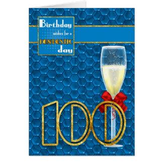 100o cumpleaños - tarjeta de cumpleaños geométrica
