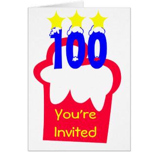 100o Cumpleaños Tarjeta Pequeña