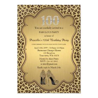 100o Invitación del cumpleaños, diamantes de los