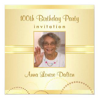 100o Invitaciones de la fiesta de cumpleaños - Invitación 13,3 Cm X 13,3cm