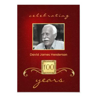 100o Invitaciones de la foto de la fiesta de cumpl Invitación 12,7 X 17,8 Cm