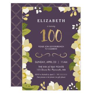 100o Personalizar de la invitación del cumpleaños