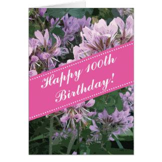 100o Tarjeta de felicitación del cumpleaños con