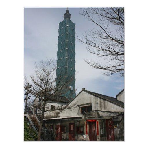 101 y cabañas japonesas, Taipei, Taiwán Fotografía