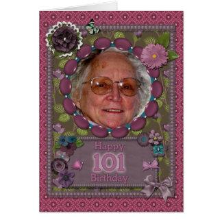 101a tarjeta de la foto del cumpleaños