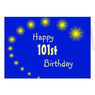 101o Estrellas de la tarjeta de cumpleaños