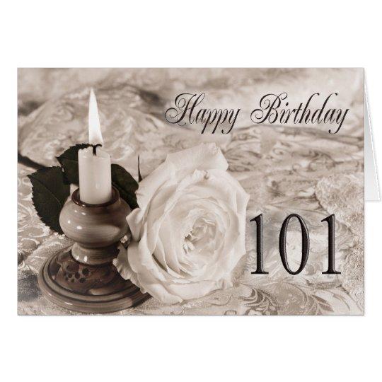 101o Tarjeta de cumpleaños con un color de rosa